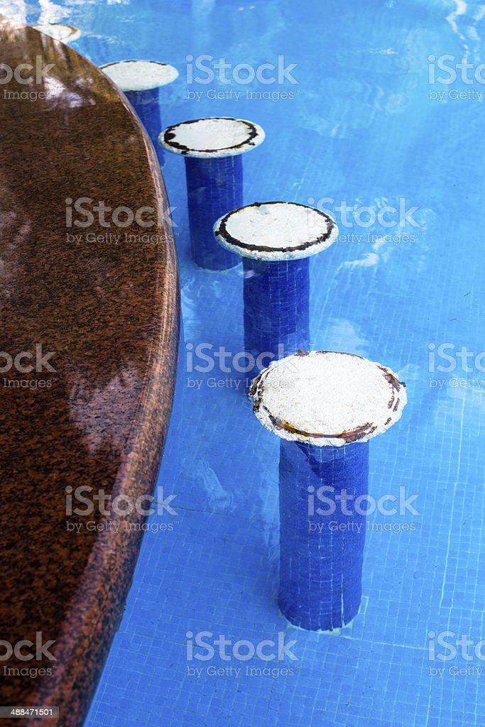 Swimming Pool Bar Seats stock photo