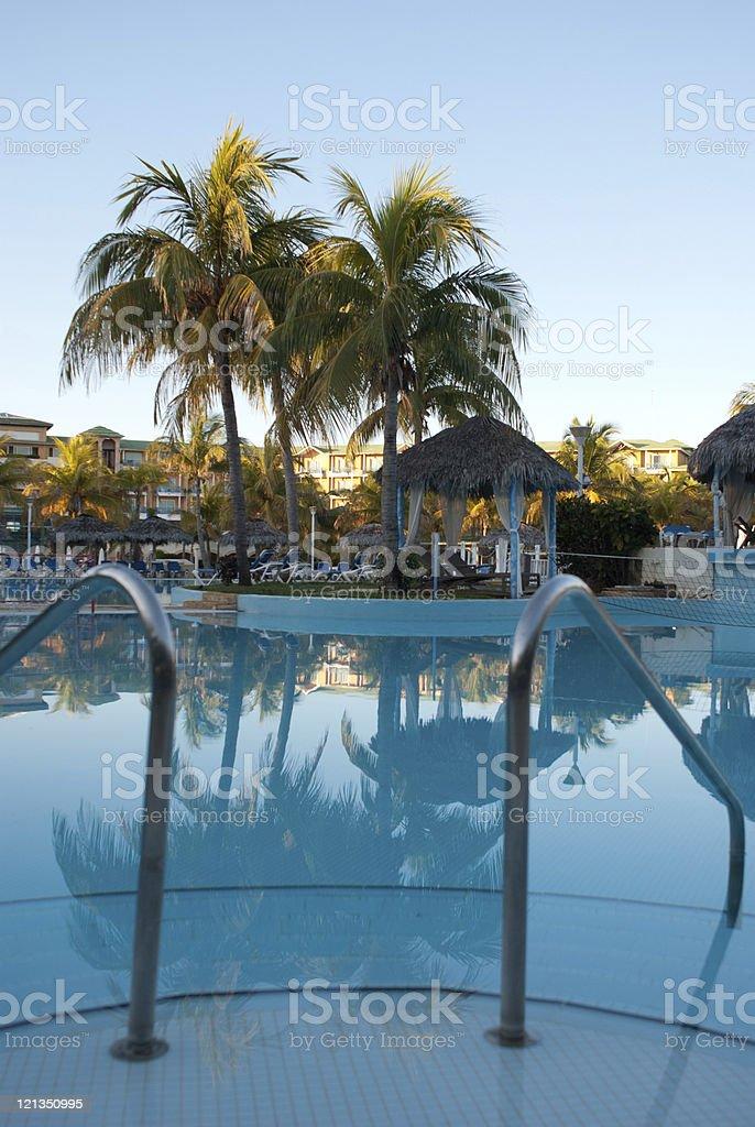 Swimming pool - beach resort stock photo