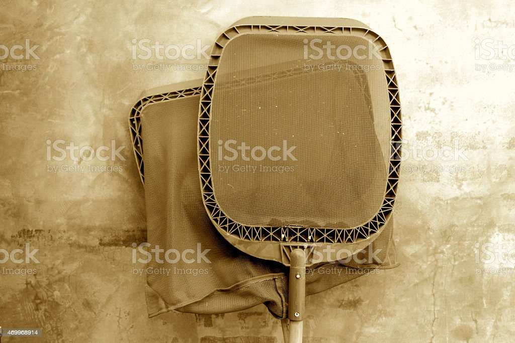 Swimming pool cleaning equipment vintage royalty-free stock photo