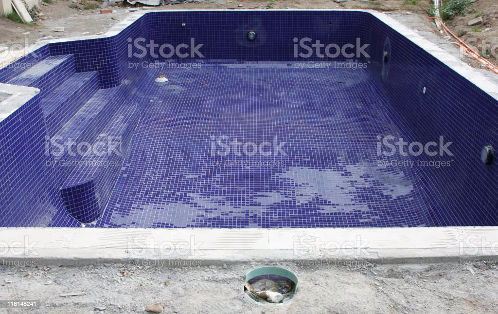 Swimming Pool Construction royalty-free stock photo