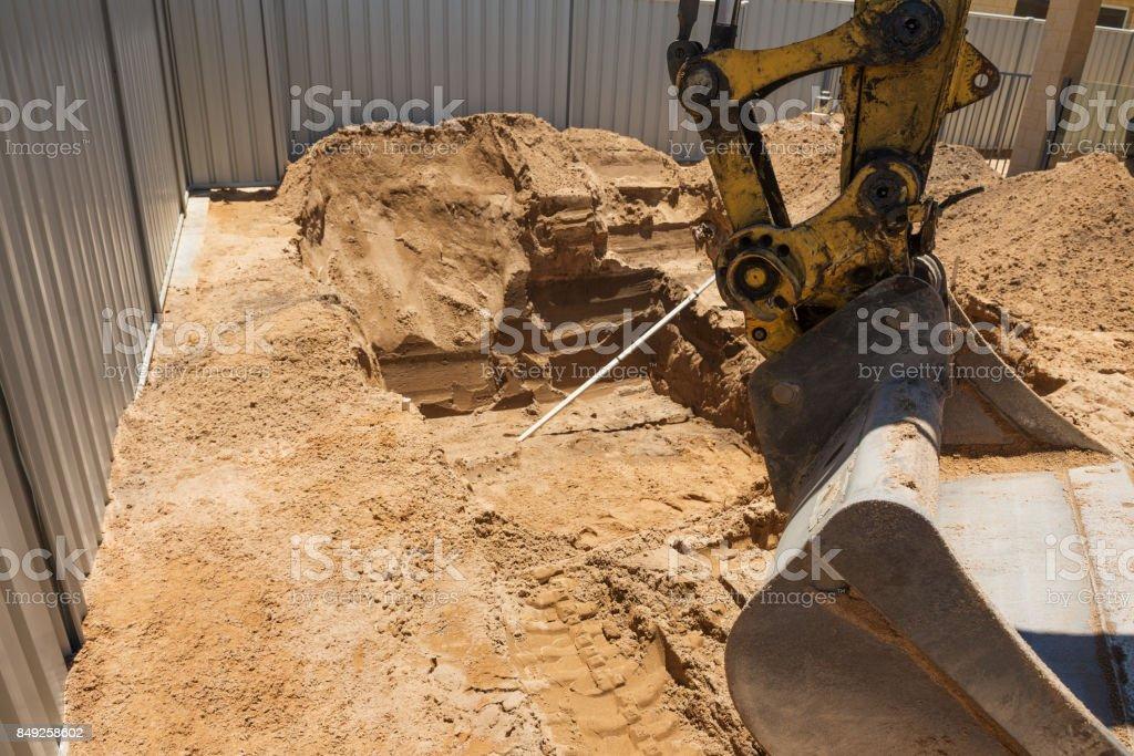 Swimming Pool Excavation stock photo