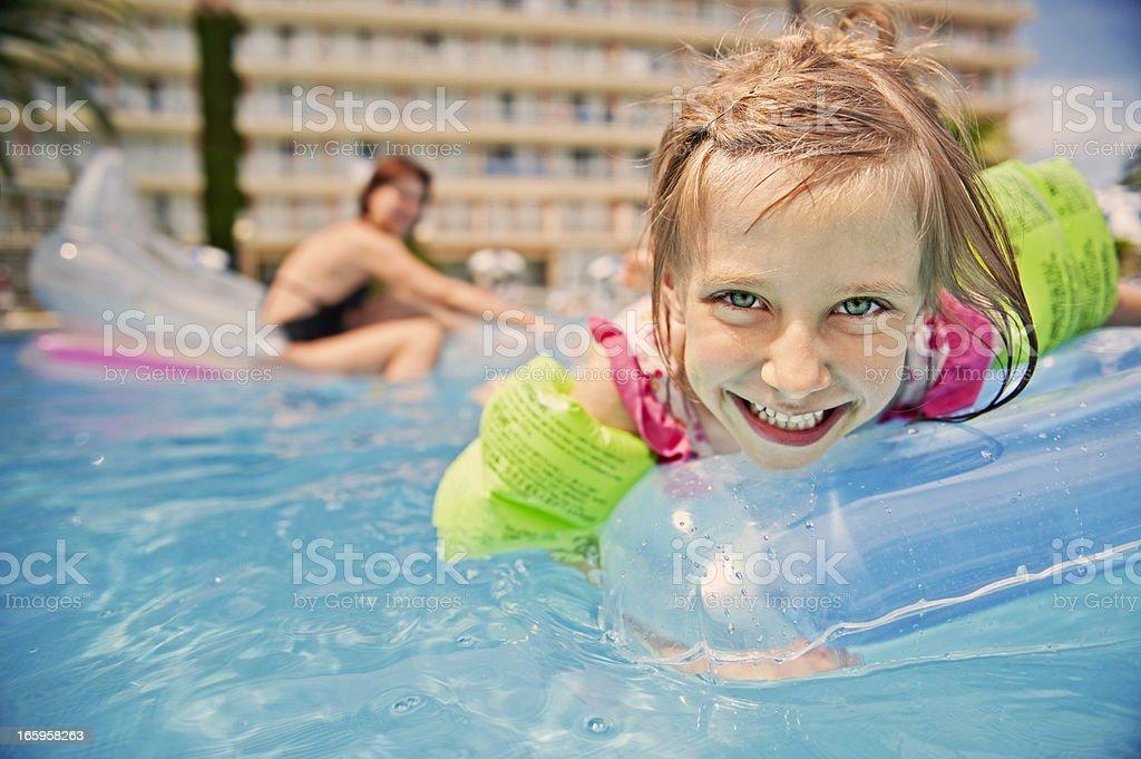 Swimming pool fun stock photo