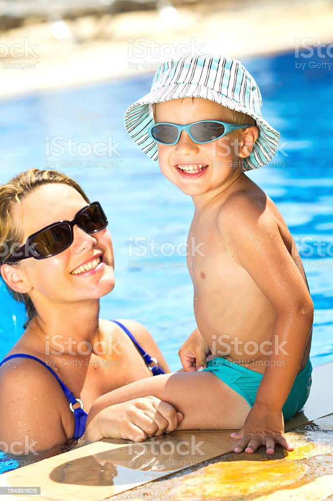Swimming Pool Fun royalty-free stock photo