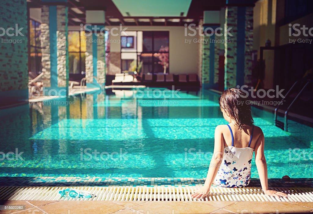 Swimming pool games stock photo