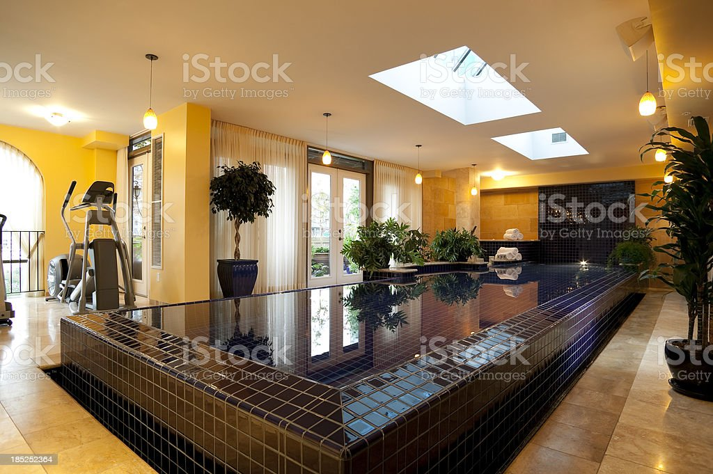 swimming pool home interior inside of penthouse indoors royalty-free stock photo