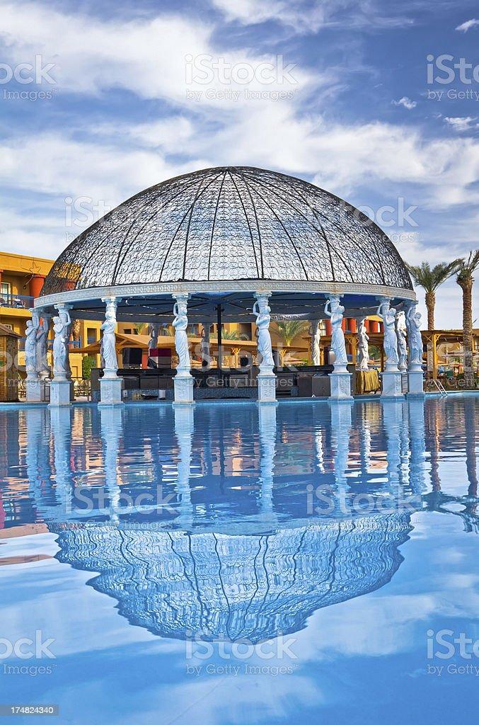 Swimming Pool in Arabian resort royalty-free stock photo