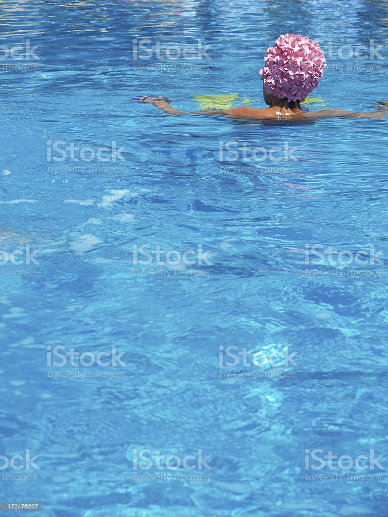 Swimming Pool in Italy royalty-free stock photo
