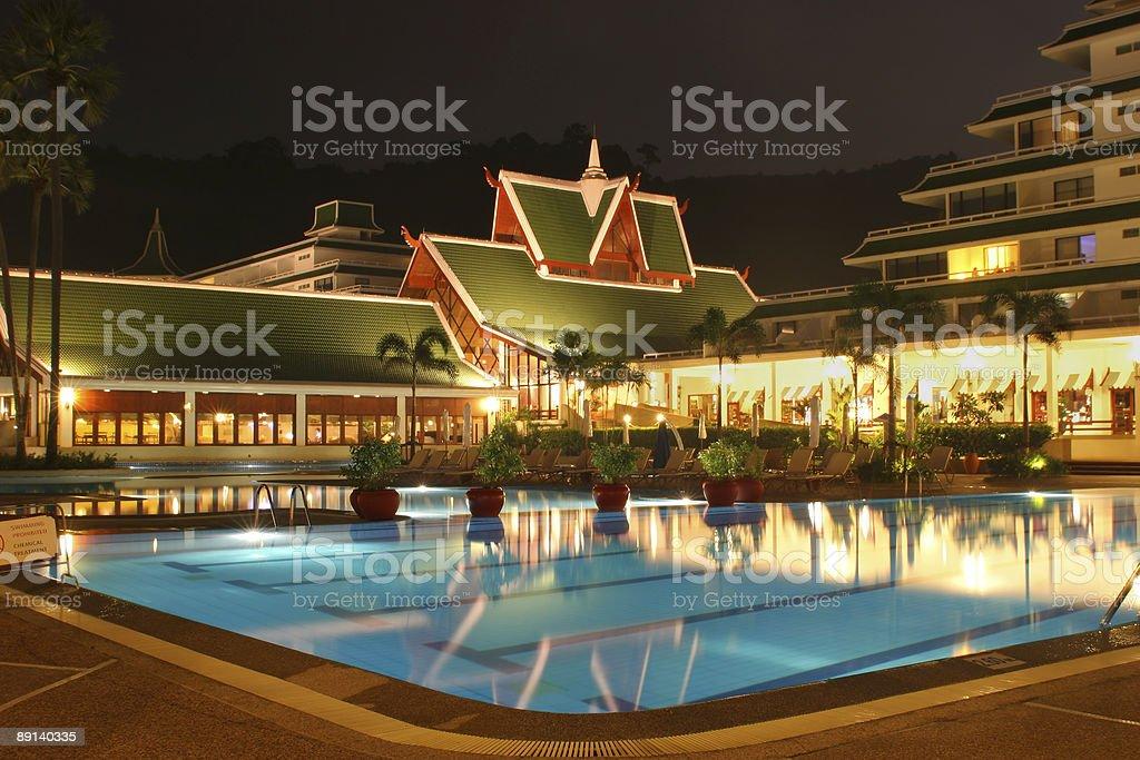 Swimming pool in Phuket royalty-free stock photo