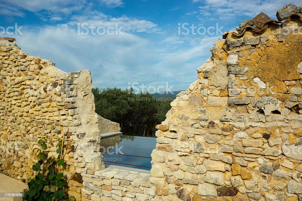 Swimming pool in Provence royalty-free stock photo