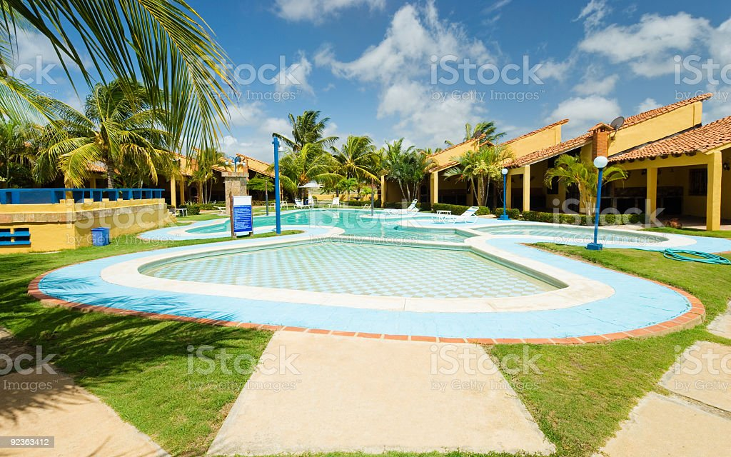 Swimming Pool in the tropic royalty-free stock photo