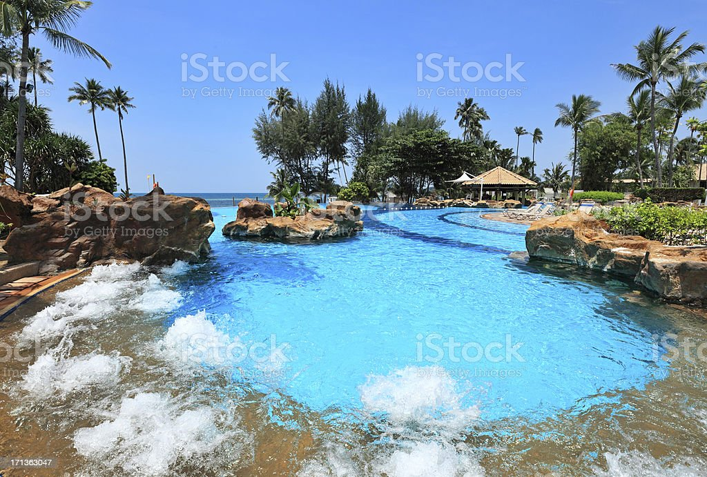 Swimming pool, Indonesia stock photo