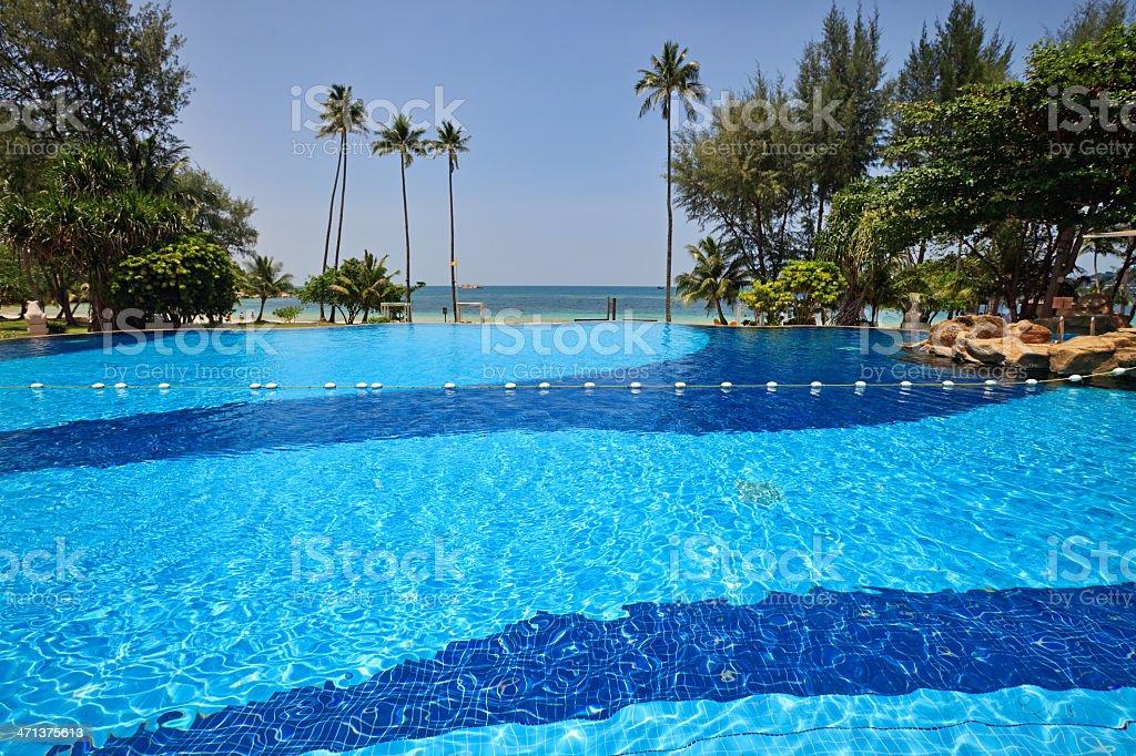 Swimming pool, Indonesia stock photo