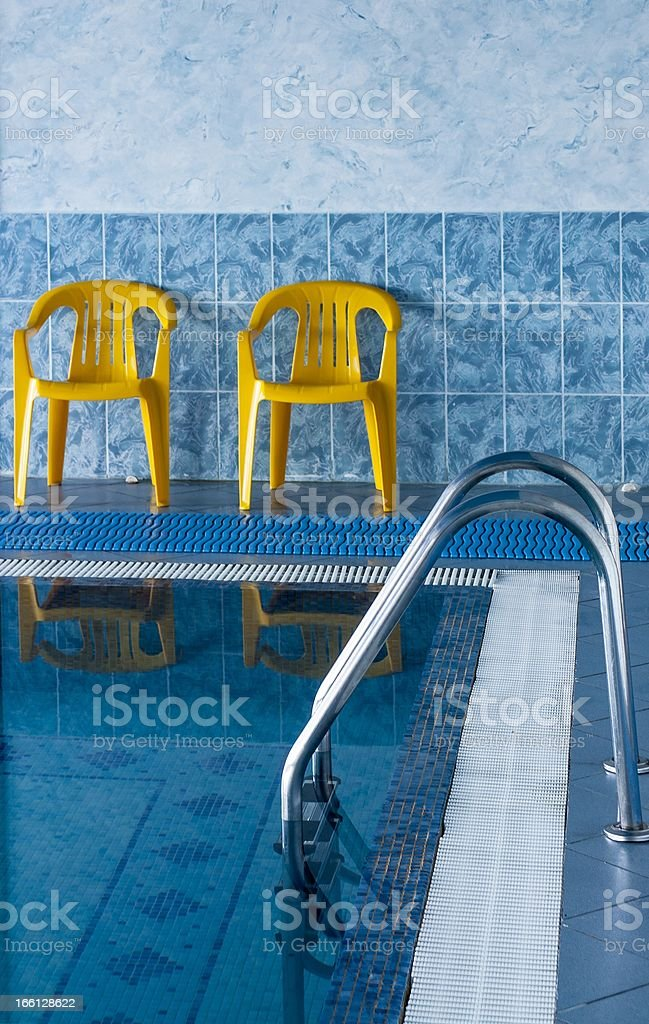 Swimming Pool Interior in hotel royalty-free stock photo