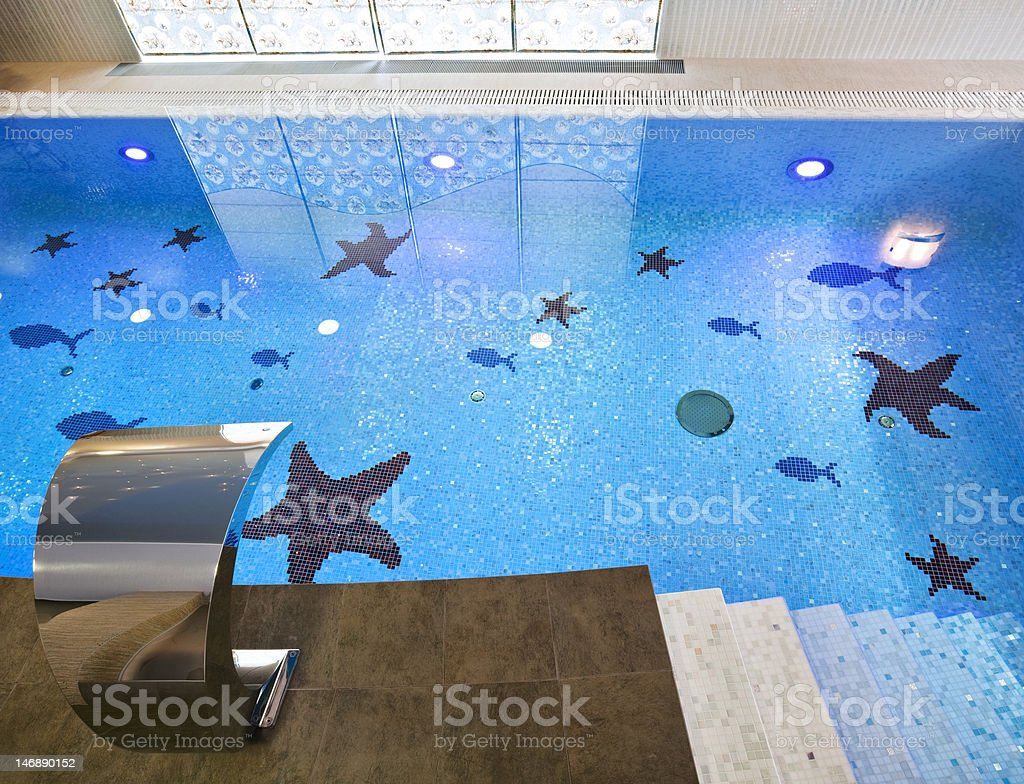 Swimming pool interior royalty-free stock photo