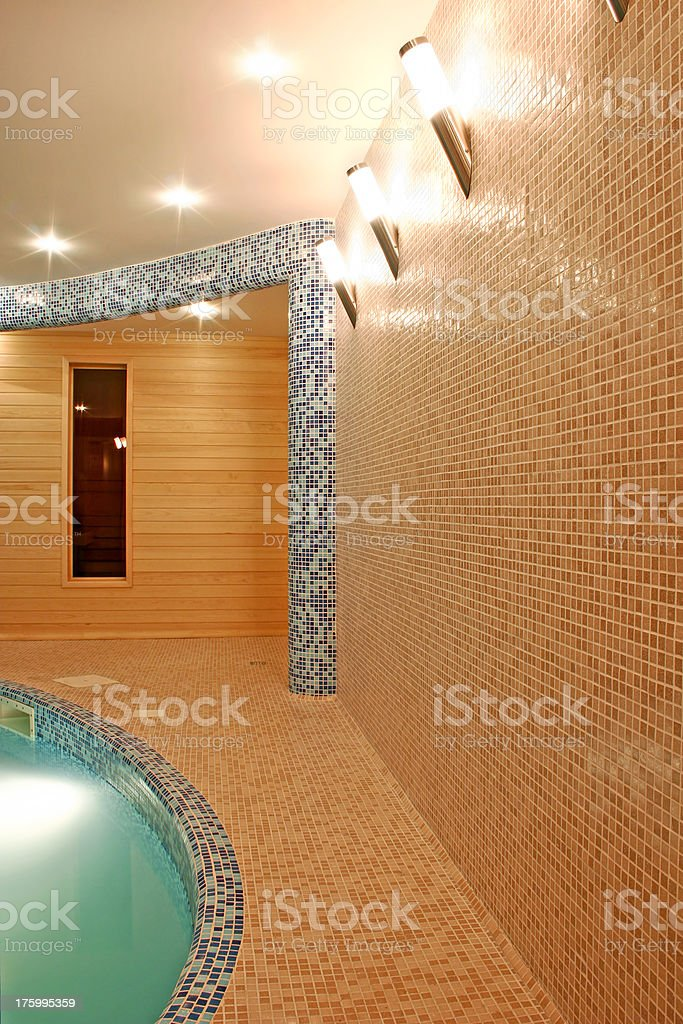 Swimming pool interior royalty-free stock photo