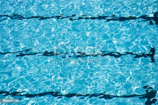 Swimming Pool Lanes Water Blue Background Texture Pattern Stock