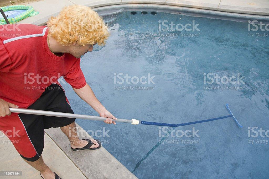 Swimming Pool Maintenance royalty-free stock photo
