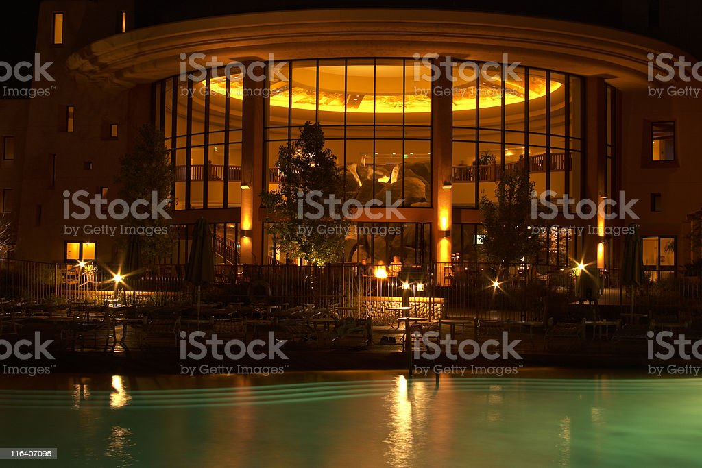 Ambient light from pool and interior lights with use of star filter....