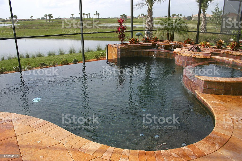 Swimming Pool on the Lake royalty-free stock photo