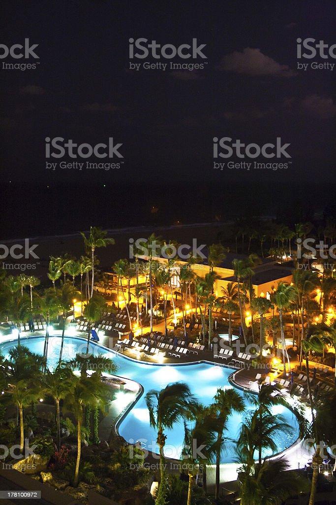 Swimming pool resort at Fort Lauderdale, Miami royalty-free stock photo