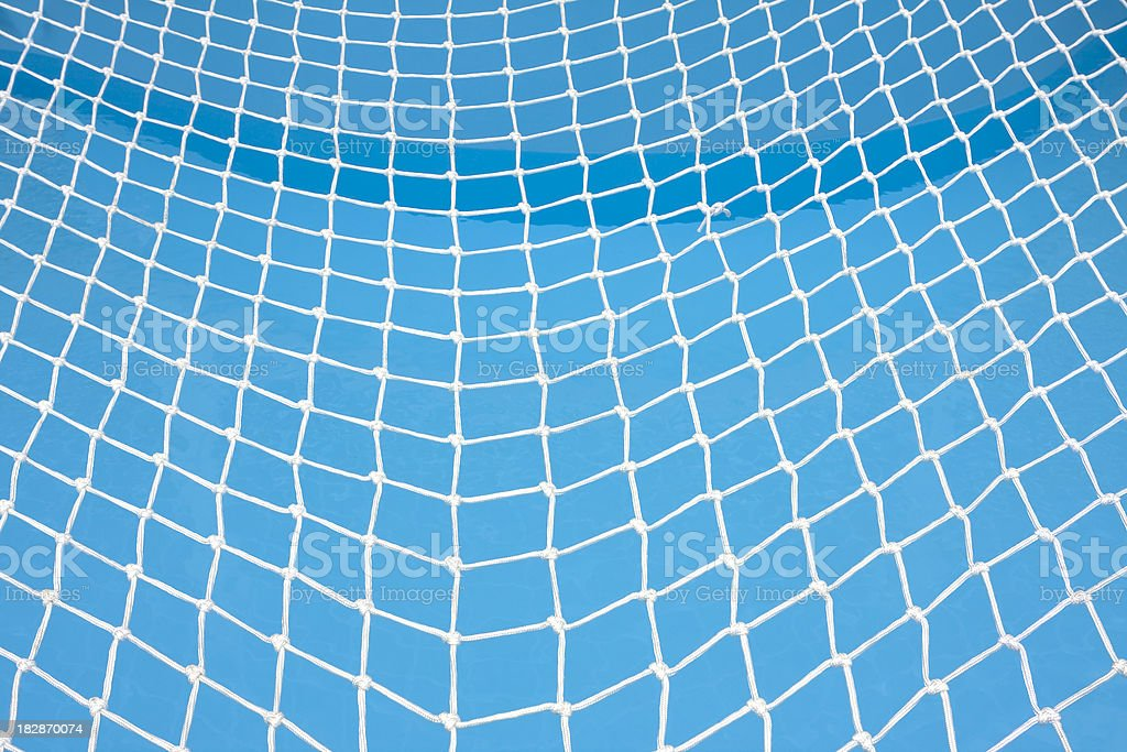 Swimming pool safety net royalty-free stock photo