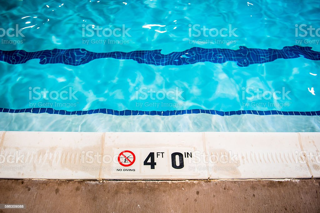 Swimming Pool Safety Sign stock photo