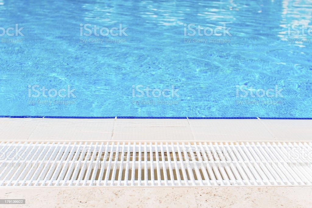 Swimming pool side royalty-free stock photo