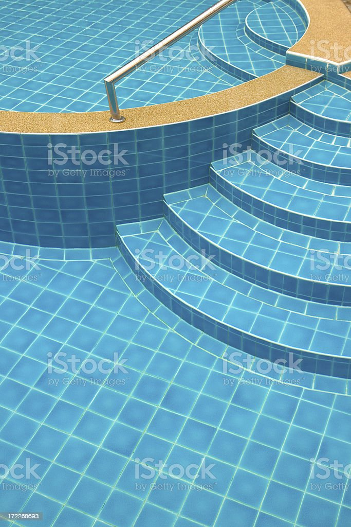 Swimming pool stairs,steps royalty-free stock photo