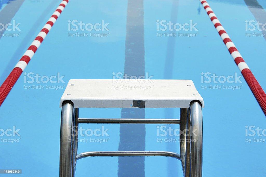 Swimming Pool Start Block royalty-free stock photo