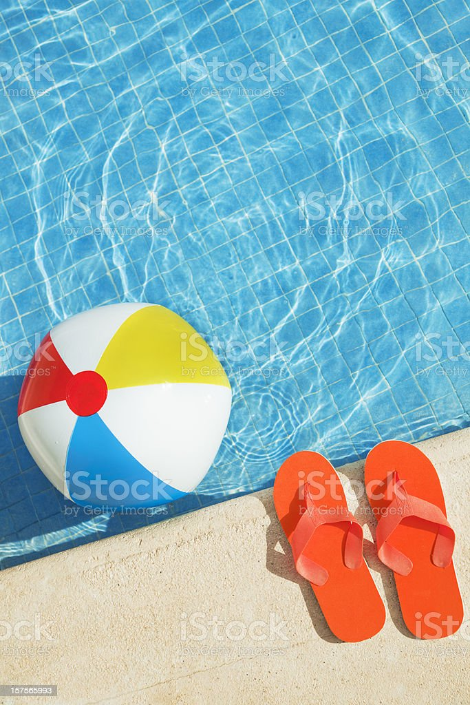 Swimming Pool Beach Ball Background beach ball pictures, images and stock photos - istock