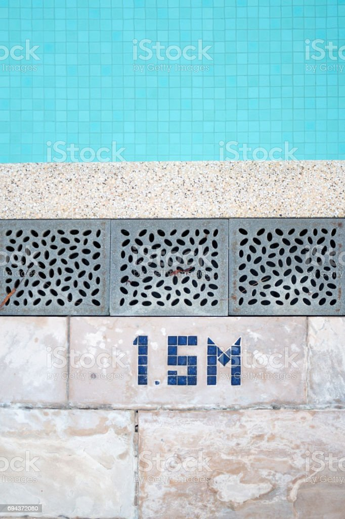 Swimming pool textures detail stock photo
