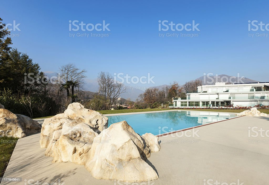 swimming pool view royalty-free stock photo