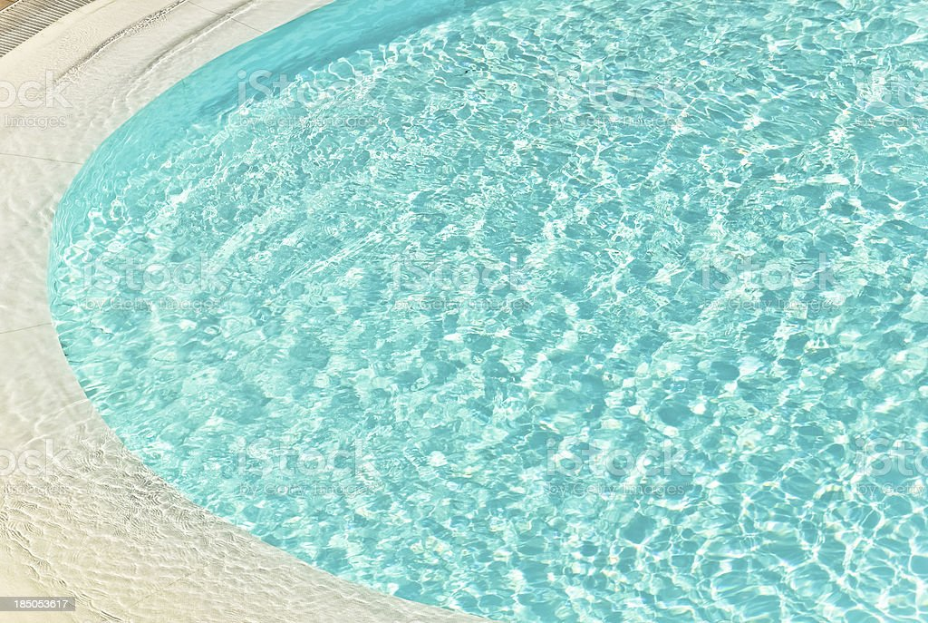 Swimming pool water reflection royalty-free stock photo