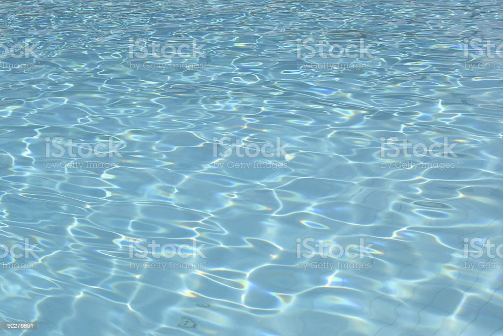 Swimming Pool - Water refraction royalty-free stock photo