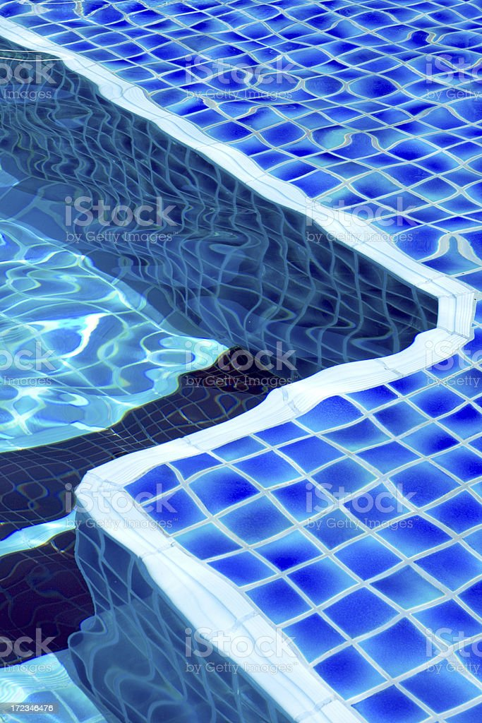 Swimming pool with Blue Tile royalty-free stock photo