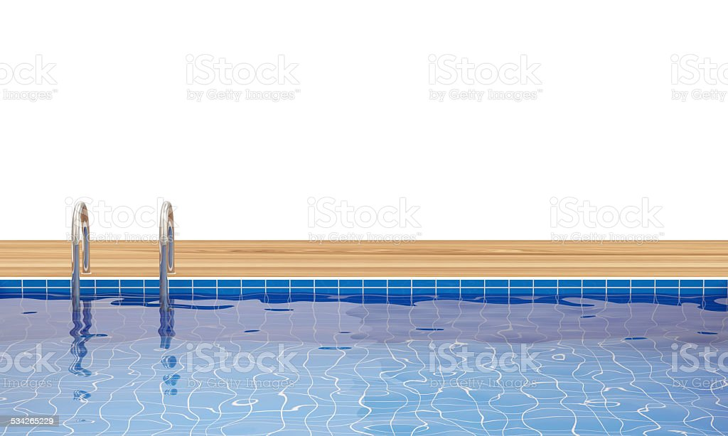 Swimming Pool with place for your text stock photo