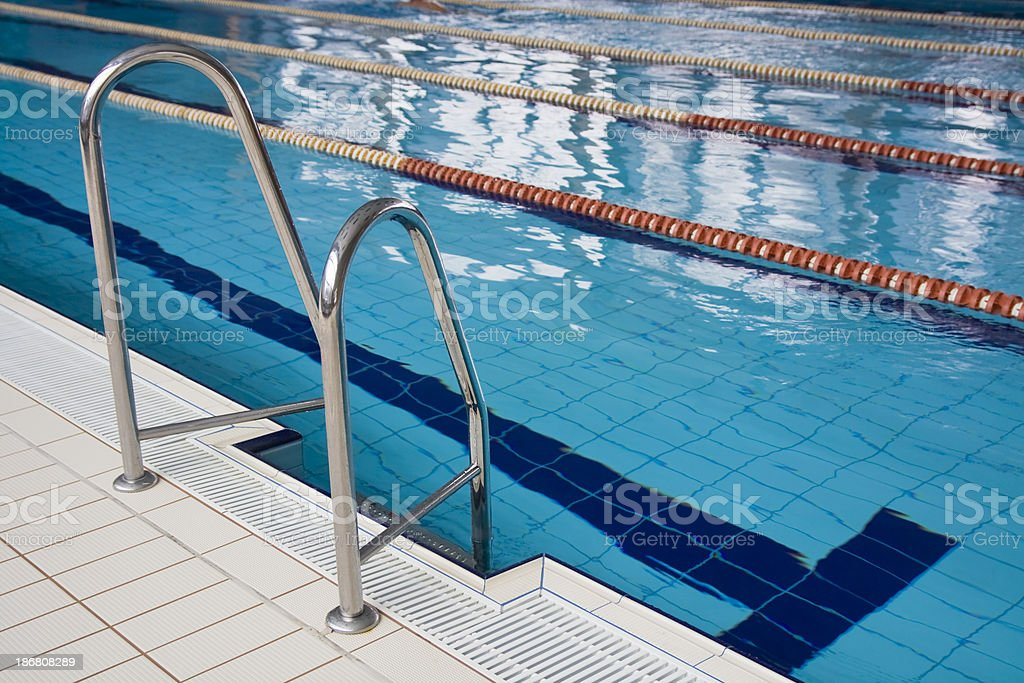 Swimming Pool with stair royalty-free stock photo