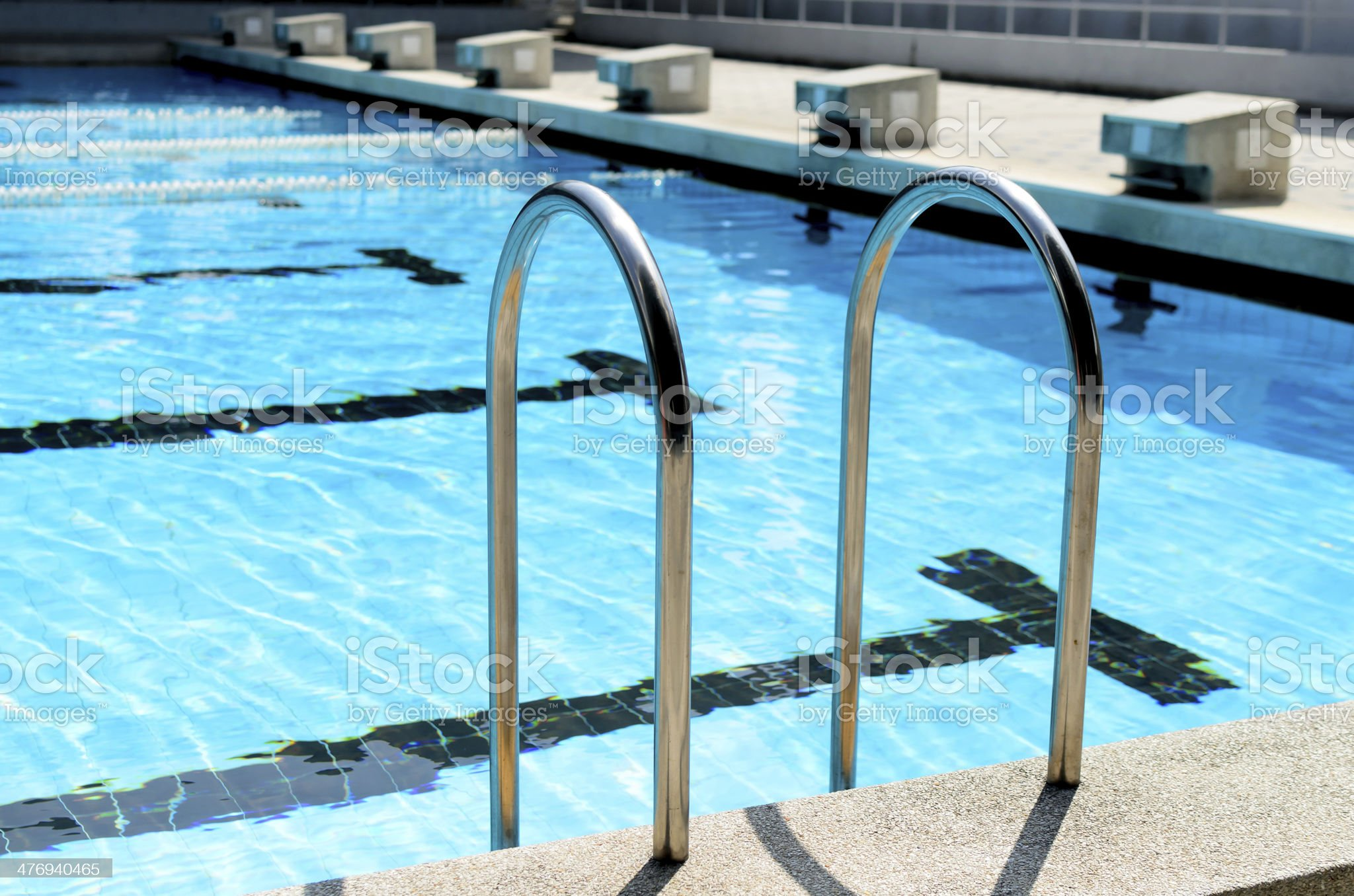 Swimming Pool with stair. royalty-free stock photo