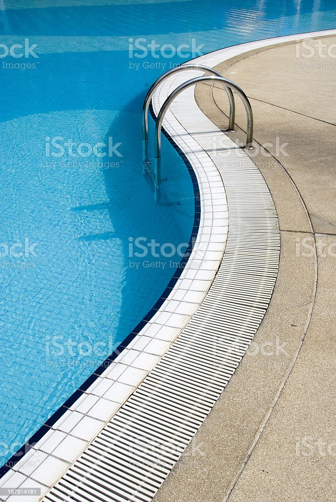 Swimming Pool with Stairs royalty-free stock photo