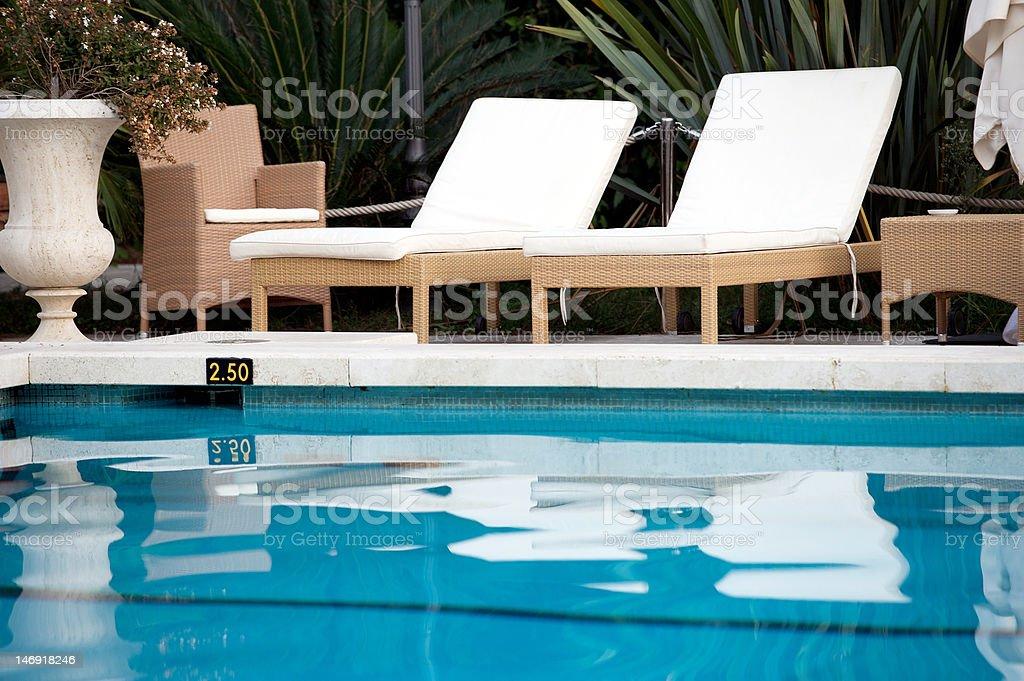 Swimming Pool,deckchair stock photo
