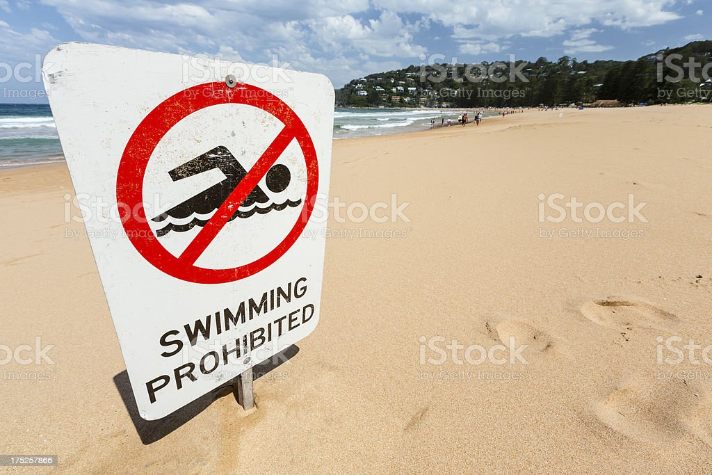 Swimming Prohibited royalty-free stock photo