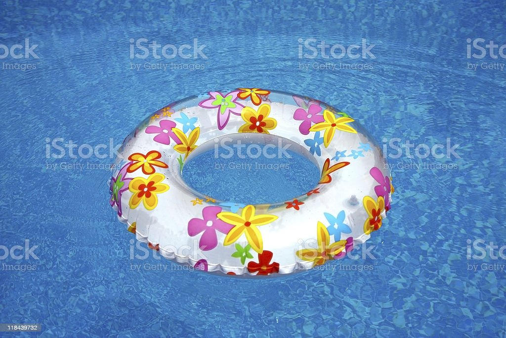 swimming ring in the water royalty-free stock vector art