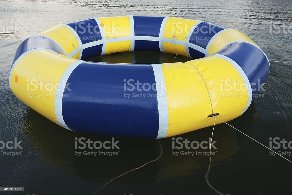 Swimming ring on lake royalty-free stock photo