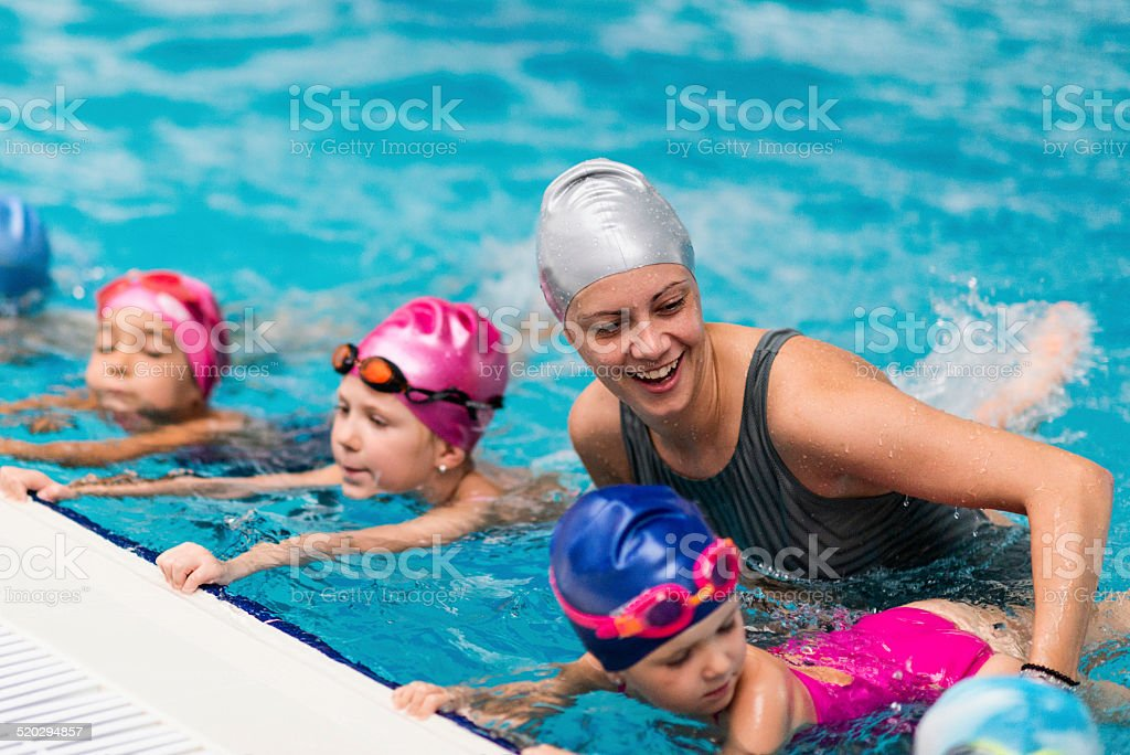 Swimming school stock photo