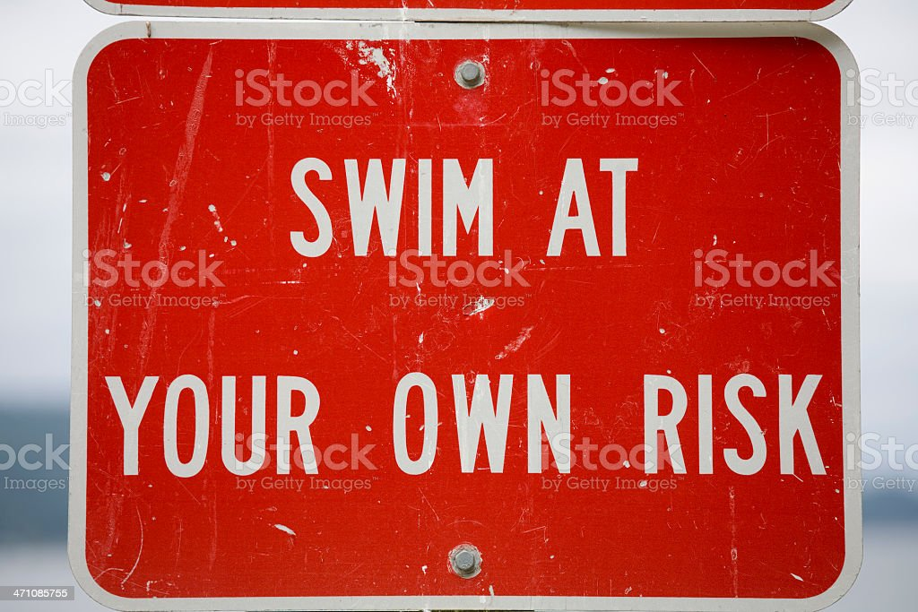 Swimming sign royalty-free stock photo