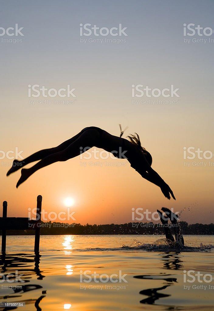 Swimming up at  the lake. royalty-free stock photo