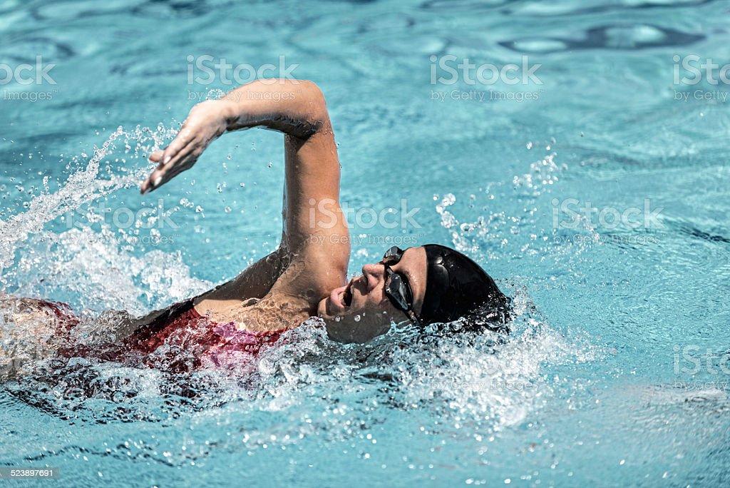 Swimmming stroke stock photo