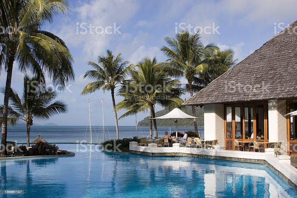 A swim-up bar at Hamilton Island in the Whitsundays royalty-free stock photo