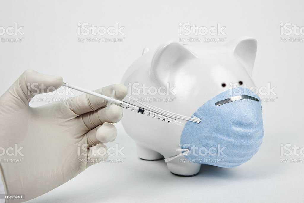Swine flu concept royalty-free stock photo