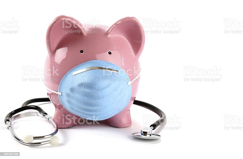 Swine Flu Concept with Stethoscope stock photo